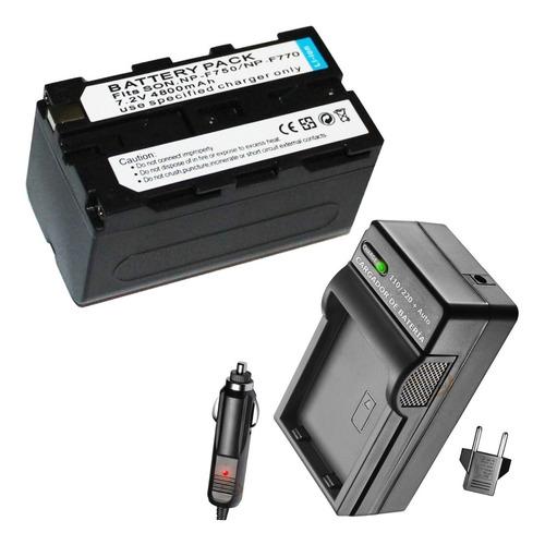 Imagen 1 de 7 de Batería Y Cargador Np-f750 F770 Fde Cámara Filmadora Sony