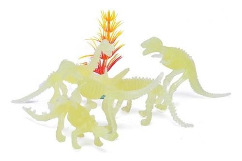 Imagen 1 de 3 de Pack Dinosaurios Neon Brillan Oscuridad En Blister