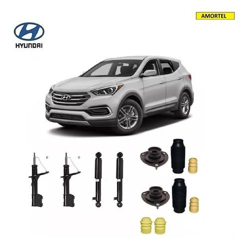 4 Amortecedores + Kits Batentes Hyundai Santa Fé Ano 07/09