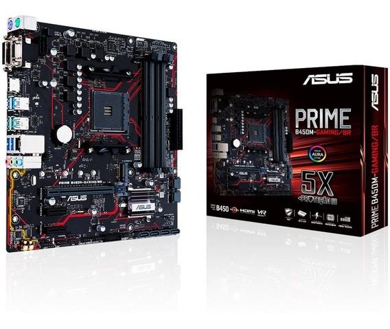 Placa Mae Gamer Asus Prime B450m-gamingbr Ddr4 Socket Am4 Chipset Amd (ssd M2,i9,xbox,play,razer,logitech,ryzen)