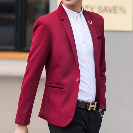 Blazer Masculino Slim Elastano Luxury Pronta Entrega