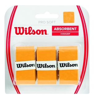 Overgrip Cubregrip Wilson Pro Soft X3 Tenis Con Efecto