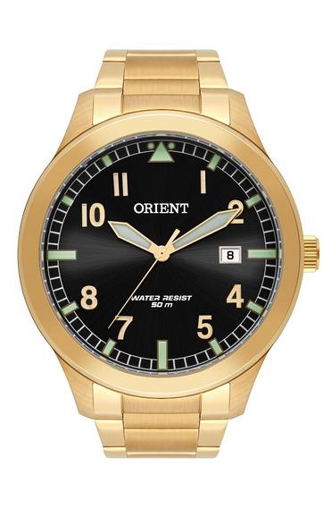 Relógio Orient Masculino Mgss1181 P2kx Aço Dourado