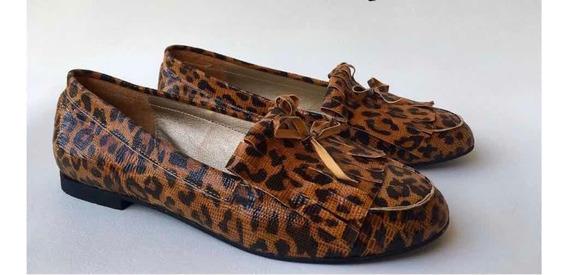 Chatitas Mocasín Leopardo Talle 40 Nuevas