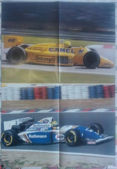 Ayrton Senna Pôster Duplo 60 X 40 Cm Fórmula 1