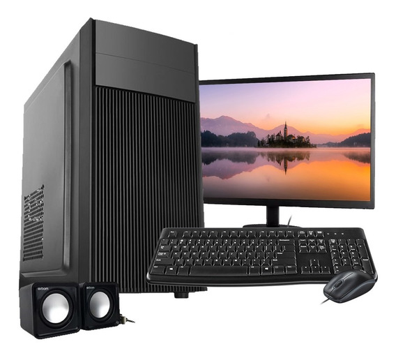 Computador Pc Completo Intel 8gb Hd 500gb Wifi Win10 C/ Monitor