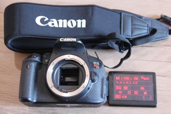 Canon T4i Corpo Com Carregador E Bateria