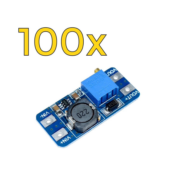 100x Conversor Regulador De Tensão Step Up Mt3608 Arduino