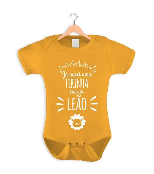 Body Infantil Para Bebê Baby Comedy Coleção Signos Leão