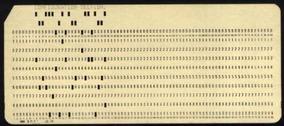 Cartão Perfurado Ibm História Do Processamento De Dados 1970