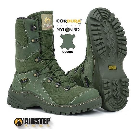 Coturno Bota Tática Militar Airstep Olive Drab 8990-9 Verde