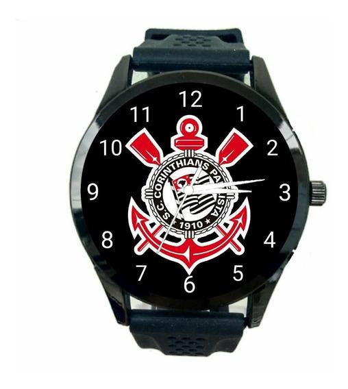 Relogio Personalizado Corinthians Masculino De Pulso Futebol Club Escudo Time Esportivo T193