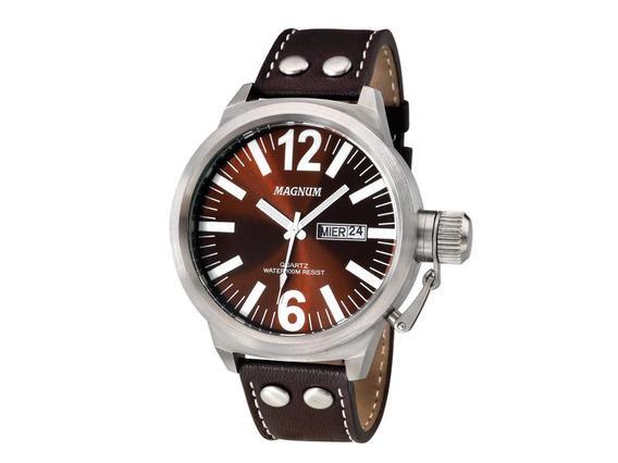 Relógio Magnum Masculino Ma31524v Vinho Aço