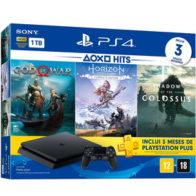 Playstation 1tb Com Jogos God Of War / Horizon Zero Dawn / S