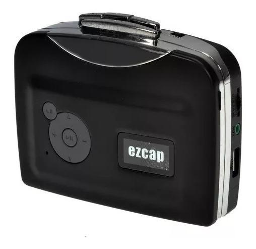 Conversor Tocador Fita Cassete K7 Para Mp3 Com Fone Ouvido
