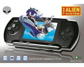 Consola Portátil Alien Juegos 16 Bits Sega Salida A Tv