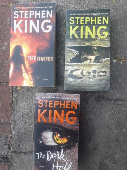 3 Livros De Stephen King Firestarter,cijo E The Dark Holf