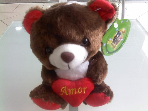 Urso De Pelúcia Marrom - Amor - 25cm