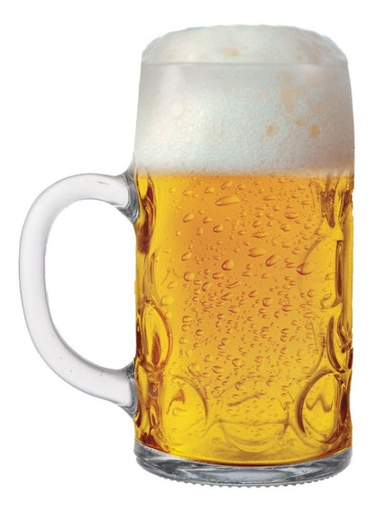 Caneca Chopp Vidro Caneca Cerveja Alemã Mass Krug M 500 Ml