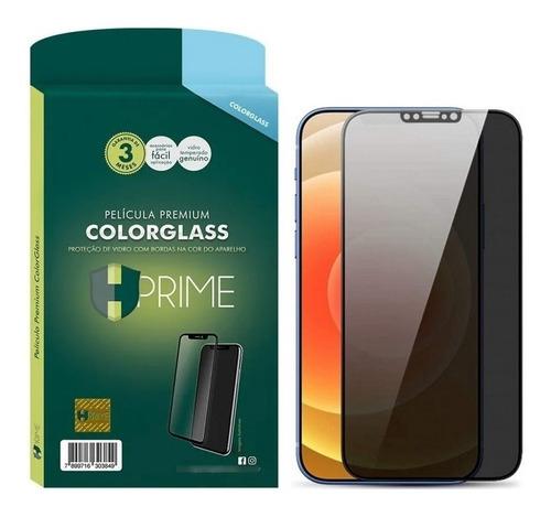 Imagem 1 de 5 de Película Hprime 6d iPhone 12 Pro Max Colorglass Privacidade