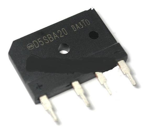 D5sba20 5a 200v Ponte Diodo - Kit C/3-pçs