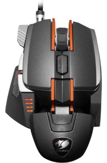 Mouse Cougar 700m Superior Usb De 12.000dpi - Preto/laranja