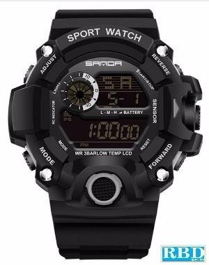 Relógio Masculino Sanda S Shock Branco Mod 326 - Imperdível