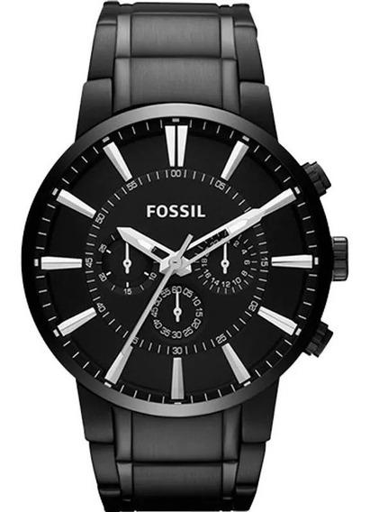 Relógio Fossil Cronógrafo De Aço Ionizado Ffs4778z
