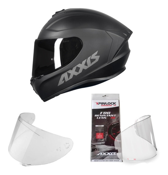 Capacete Moto Axxis Draken Fosco + Viseira + Pinlock