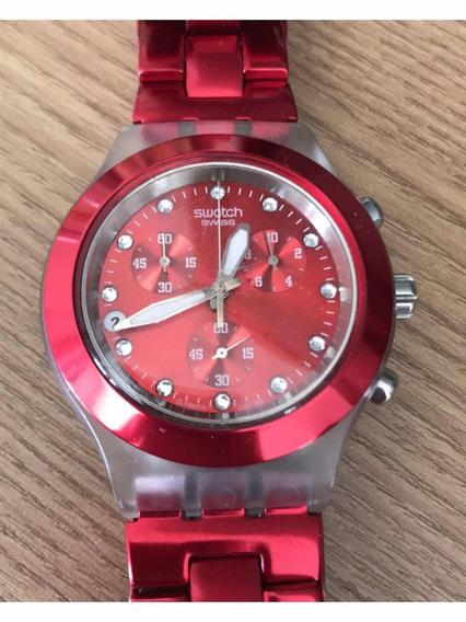 Relógio Swatch Vermelho