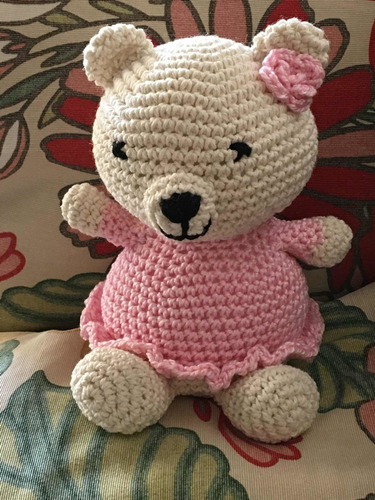 Imagen 1 de 9 de Amigurumi Crochet Osita Con Vestido Bebes Y Niños