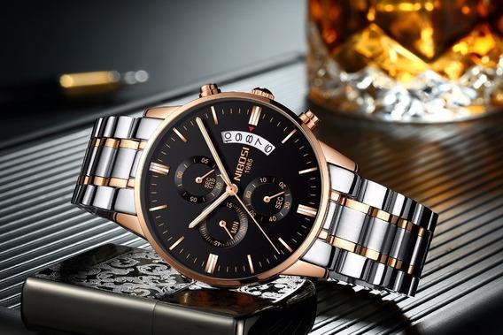 Relógio Nibosi Original Resistente A Riscos A Prova D