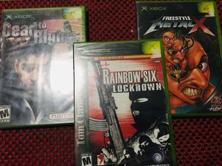 Lote De 3 Videojuegos De Xbox Clasico Nuevos Sellados
