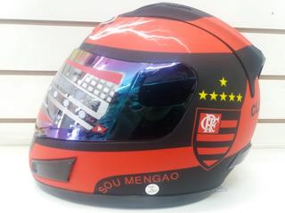 Capacete Time Flamengo 2 Viseiras