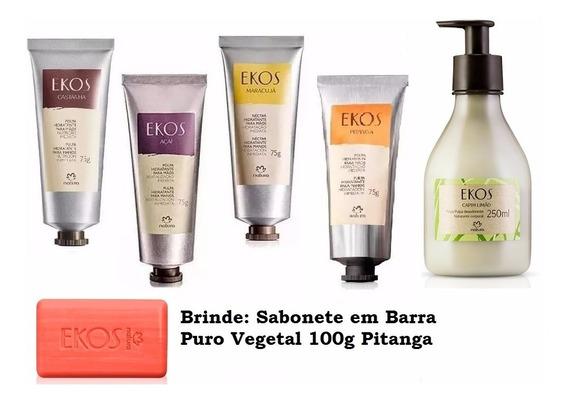42%off+brinde - Natura Ekos Castanha Creme Maos + 4 Produtos