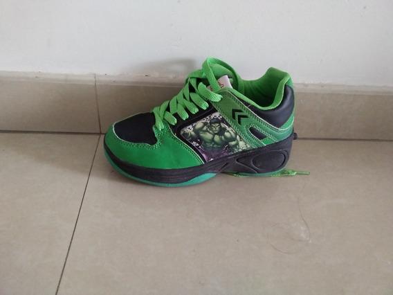 Zapatillas De Hulk Con Rueditas Talle 32