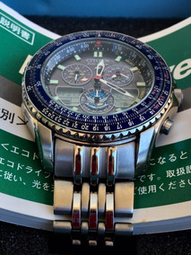 Citizen Navihawk Blue Impulse Full Titanium C650 Eco Drive