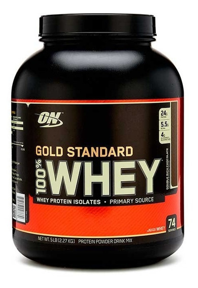 Proteina On 100% Whey Gold Standard 5 Lbs Chocolate Doble
