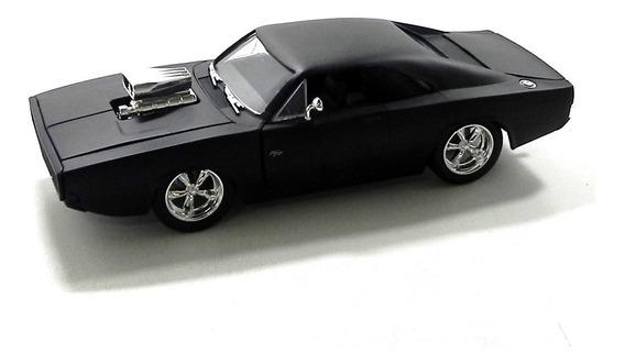 Miniatura 1970 Dodge Charger Ff Preto Fosco Escala 1/24