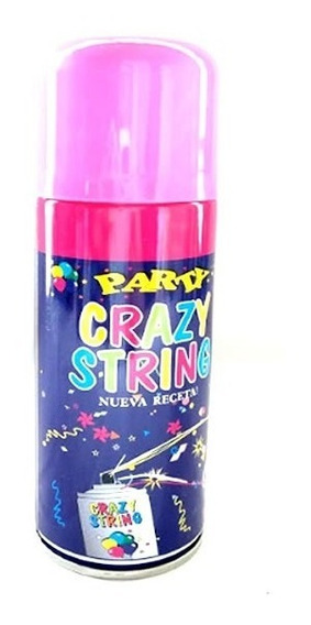 Serpentina Spray Aerosol Colores Surtidos Crazy String