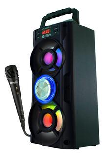 Parlante Spica Bluetooth Portatil Musica + Microfono Karaoke