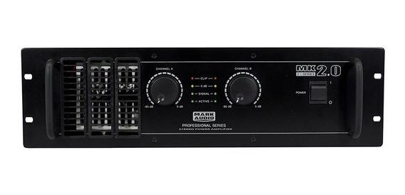 Amplificador Potência Mark Áudio Mk 2.0 2000w Rms 2 Canais