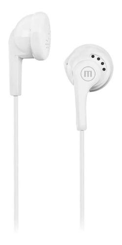 Imagen 1 de 2 de Auricular Maxell Eb95 Blanco In Ear