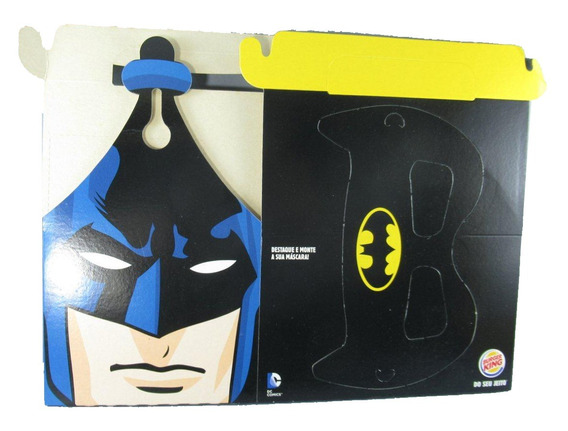 Caixa Dc Batman Burguer King Máscara Papel Somente Caixa