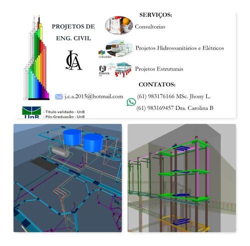 Projetos Residenciais: Estrutural ,hidrossanitário, Eletrico