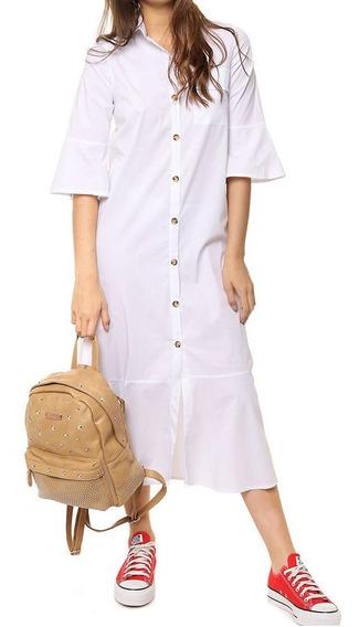 Vestido Largo Camisero Mujer Prussia - Laurent 9523
