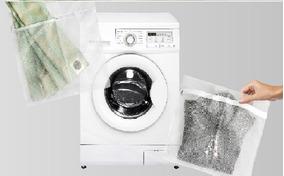 Kit De 2 Sacos Para Lavar Roupas Adomes M3090 P E M Branco