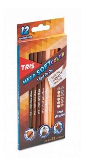 Lápis De Cor 12 Cores Mega Soft Color Tons De Pele 687735 T