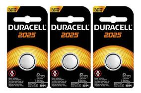Kit Bateria De Lítio Metálico Cr 2025 Duracell C/ 3 Unidades