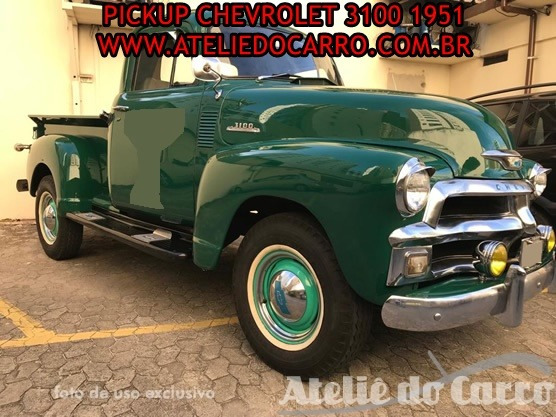 Pick Up Chevrolet 1954, Original -ateliê Do Carro Vendido